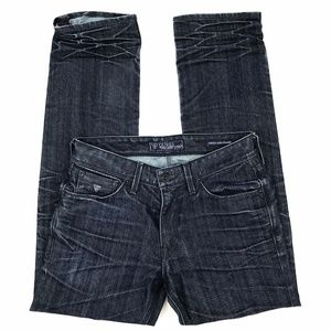Guess Lincoln-Slim Straight Dark Wash Denim Jeans
